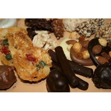 Chocolat aux fruits secs et confits