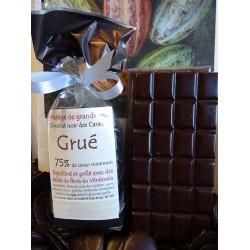 Chocolat Noir Grué 75% cacao