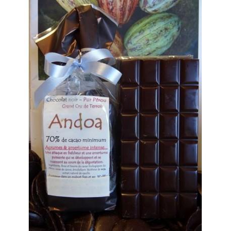 Chocolat noir ANDOA 70% cacao