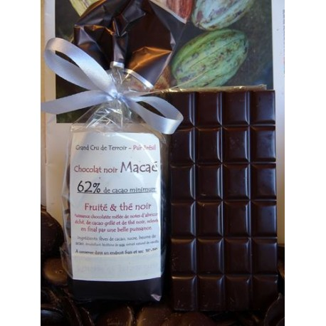 Chocolat Noir Macaé 62% cacao