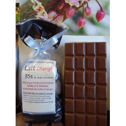 Chocolat lait  35 % cacao ORANGE