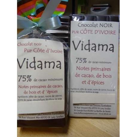 Chocolat Noir 75% cacao Vidamà