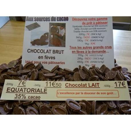 Chocolat lait 35% cacao Equatorial