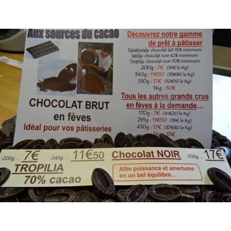 Chocolat Noir Tropilia 70% cacao
