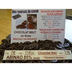 Chocolat noir 85% cacao Abinao